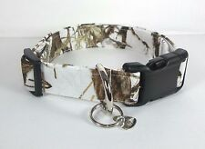Snow White True Timber MC2 Camo Dog Collar custom made adjustable hunting