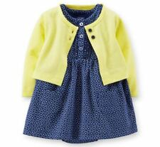 Carters Newborn 3 6 9 12 18 24 Months Cardigan & Dress Set Baby Girl Clothes