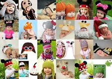 Baby Boy Girls Beanie Crochet Knit Hat Winter Warm Cap Fit  Photo Clothes Props