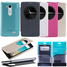 Nillkin Sparkle PU Leather Flip Quick Window Case Cover For LG L Fino D290N D295
