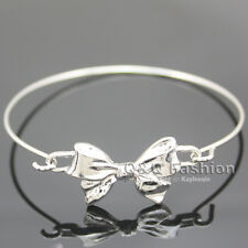 Chic Love Bowtie Bowknot Bow Tie Knot Charm Statement Wire Bracelet Bangle Gift