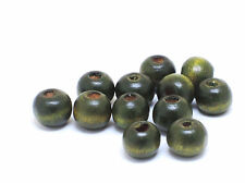 8mm 100pc / 150pc / 250pc / 500pc GREEN COLOR WOOD ROUND BEADS CC3303W