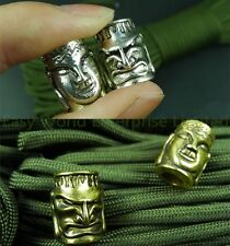 Vertical Hole Charm Metal Buddha Demon Beads Tactical Skull For Paracord Lanyard