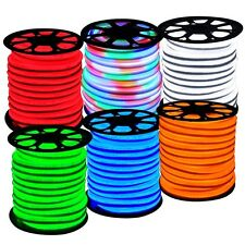 150Ft Neon Rope Light LED Sign Flexible In/Outdoor Holiday Decorative Lighting