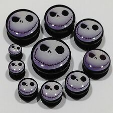 Jack Skellington Nightmare Before Christmas Flesh Ear Tunnel Plug