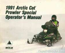 Used 1991 Arctic Cat Prowler Special Snowmobile Owners Manual