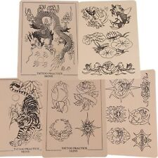 Assorted Mixed Designs Tattoo Tattooing Practice Skins for Needle 8x6""
