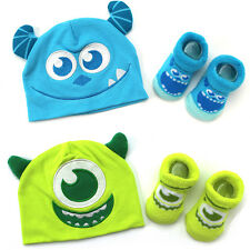 Monsters Inc Mike & Sulley Infant Hat & Booties Socks Set MIX35522BN MIX35523BN