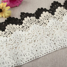 """3.5""""*1yard delicate embroidered Cotton lace trim for Skirt Curtain DIY 3 colors"""