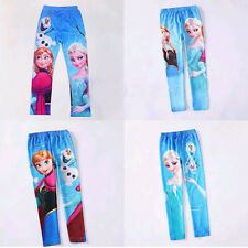 Cute Girl's Frozen Prince Anna Elsa Skinny Leggings Kid's Pants Trousers 2-10Y