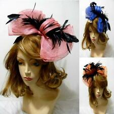 Wedding Church Feather Sinamay Multi-Color Headband Derby Kentucky Hat