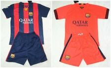 new 2014-2015 BARCELONA shirt and short kit 3-14 years print NAME + NUMBER