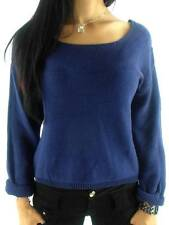By Second Female Knit Jumper Caro Line Blau Chunky Knitted U-Boot