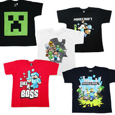 Kids Official Minecraft T-shirt Age 5-14 Choice of Designs Creeper Steve, Sword