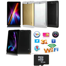 """7""""GSM 3G Phablet Android 4.4 PC Tablet Bluetooth Dual Camera Smart Phone+8GB TF"""