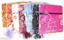 12cm*12cm mix color silk brocade wallet purse handmade jewelry gift bag pouch