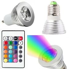 Lamp light Energy saving 3W 4W GU10 E27 RGB LED Bulb16 Color changing IR Remote