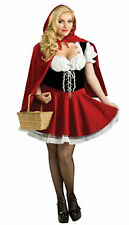 Sexy Ladies Little Red Riding Hood Halloween Costume Fancy Dress Plus Size S-3XL