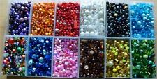MINIMUM 20G BAG OF ASSORTED SIZE GLASS BEADS 2-12MM MANY COLOURS AVAILABLE
