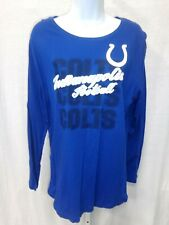Indianapolis Colts Football Ladies Colts Repeat Long Sleeve Shirt Royal New