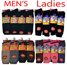 Men's Women's Ladies Thermal Warm Winter Socks Black,Color UK 6-11 EUR 39-45