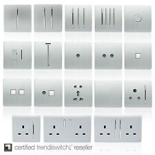 Trendi Modern Designer Silver light switch plug socket rocker phone/pc sockets