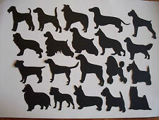 10 DOG SILHOUETTE DIE CUTS ASSORTED C- L BREEDS TOPPERS A MIX & MATCH + VINYL