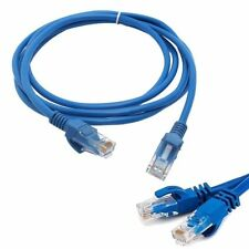 1M 3ft 2M 6ft CAT5 CAT5E RJ45 Ethernet Network Patch LAN Cable Cord for PC Blue