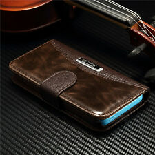 New Magnetic Flip Luxury Leather Stand Wallet Case Cover For Apple iPhone 5c
