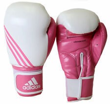 Adidas Box-Fit Boxing Gloves - White/Pink