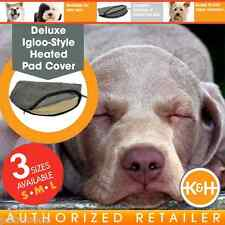 K&H Deluxe Igloo-Style Heated Gray Pad Dog Cover SM KH1035 MD KH1045 LG KH1055