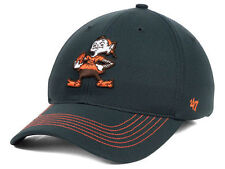 CLEVELAND BROWNS NFL GAME TIME XP '47 CLOSER BROWNIE THE ELF FLEXFIT HAT/CAP NWT