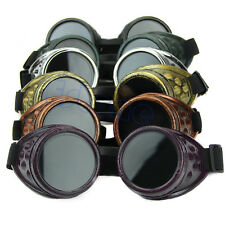 Vintage Victorian Steampunk Goggles Glasses Welding Cyber Gothic Punk Cosplay