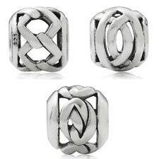 925 Sterling Silver Knot Filigree European Charm Bead