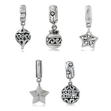 925 Sterling Silver Filigree Dangle European Charm Bead