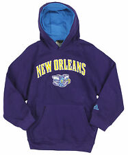 Adidas NBA Basketball Youth Boys New Orleans Hornets Pullover Hoodie, Purple