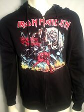AUTHENTIC IRON MAIDEN 666 NUMBER OF THE BEAST MENS METAL ROCK MUSIC HOODIE S-2XL