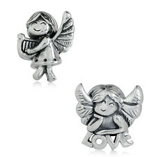 925 Sterling Silver FAIRY ANGEL & LOVE European Charm Bead
