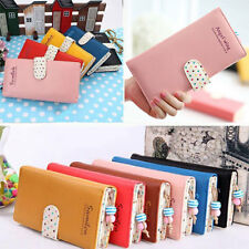 Fashion Women Ladies Coin Leather Long Purse Clutch Wallet Zip Bag Card Holder