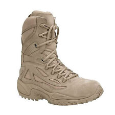 74f4d6e4fa4d REEBOK Womens RapidResponse Composite Toe Side Zip Boot Tan Suede Leather  RB894