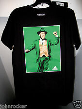 ST. PATRICKS DAY LEPRECHAUN NOTRE DAME FIGHTING IRISH NAVY ADIDAS T-SHIRT NWT