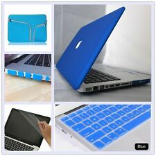 5in1 Royal Blue Rubberized Matt Hard Case Cover Bag for Macbook Air Pro 11 13 15
