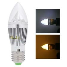 New 8W E27 LED Candle Light Bulb Chandelier Lamp Spotlight High Power AC 85-265V