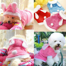 Cute Pet Dog& Cat Bunny Clothes Warm Autumn Winter Puppy Costumes Hoodie Apparel