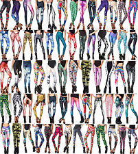 Womens Sexy Digital Graphic Design Printed Pattern Stretchy Leggings Tight Pants