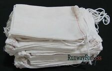 Lot of 25 OR 50 pcs 4 x 6 Inches Sturdy Cloth Drawstring Part Sample Bag Pouch