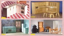 dolls house miniature 1:12 scale quality kitchen set 4  to choose from.