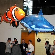 Air Swimmer Ranger RC Remote Control Flying Fish Clown Nemo Shark Inflatable Toy