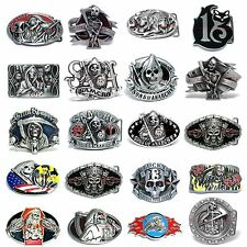 BBUM0321 SCYTHE GRIM REAPER / SONS OF ANARCHY SAMCRO / LUCKY 13 BELT BUCKLE