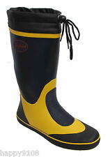 Seafarer Sailing Boat Deck Rubber Wellington Boots Wellies Navy NEW STOCK